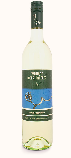 Weißburgunder 2020, Vulkanland Steiermark DAC, Weißwein aus der Steiermark, Weinhof Loder-Taucher, Buschenschank Gansrieglhof, Poschitz bei Weiz, Online kaufen